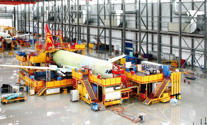 空客A320系列飞机中国总装线